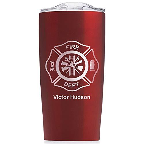 Engraved Firefighter Tumbler