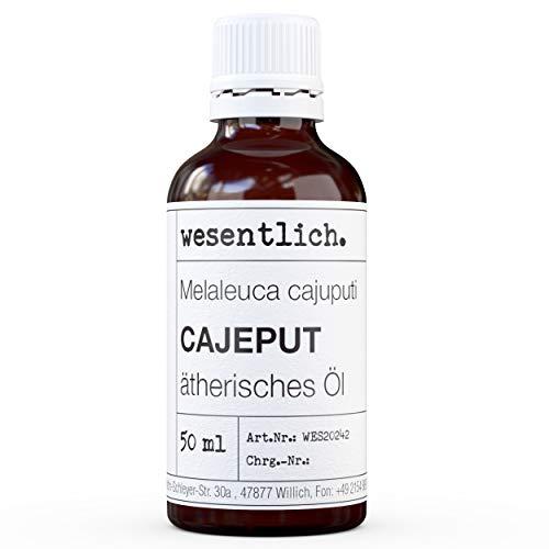 essenziale. Olio di cajeput – Olio essenziale – 100% naturale (bottiglia di vetro) – tra l'altro per lampada profumata e diffusore (50 ml)