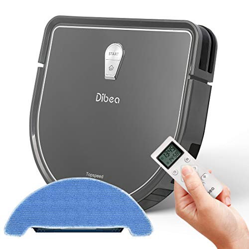 Dibea 2-in-1 Mopping Robot Vacuum, Automatic Self-Charging Robot Vacuum Cleaner for Pet Hair, Carpet and Hard Floor DT966
