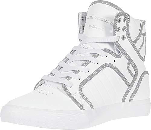 Supra Herren Skytop Hohe Sneaker, Weiß (White/Reflect-White 105), 46 EU