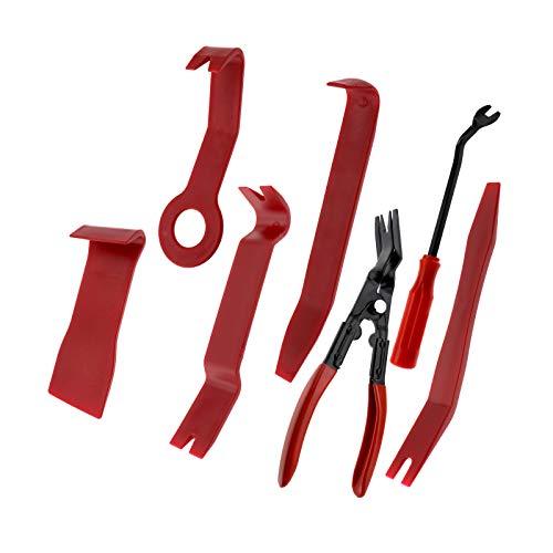 Juego de 7 embellecedores de puerta, herramienta para desmontaje de clip, herramienta para revestimiento interior