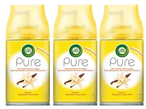 Air Wick FM Pure Vanille (Vanilla) 250ml Nachfüller für Freshmatic Lufterfrischer (3x 250ml)
