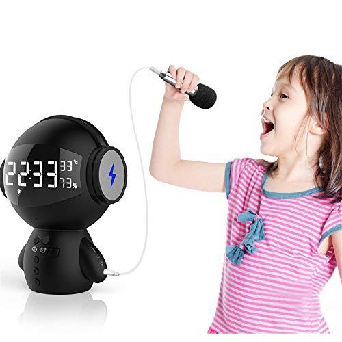 Ronshin luidspreker, Bluetooth, multifunctioneel, powerbank, mini-microfoon, kaartinleg, luidspreker, zwart, Engels, Bluetooth