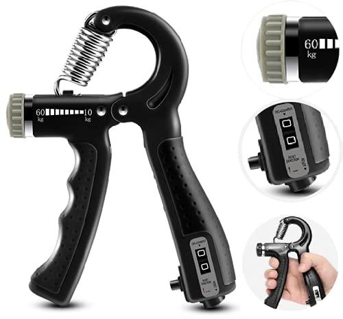 Entrenador de mano y dedos ajustable con mango ergonómico, dispositivo de entrenamiento muscular.