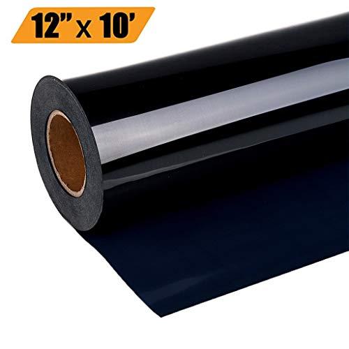 Dapei Transferfolie Heißpresse Aufkleber Vinyl Bügelpapier Transferpapier für Dunkle Textilien Bluse T-Shirt DIY Kleidungsstück Film Silhouette Papier Art, 30x300cm (Schwarz)