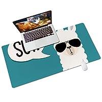 Colorful Star ノンスリップデスクパッド 拡張ゲーム用マウスパッド デスクトップ&ノートパソコン用 31.5インチ x 15.7インチ PUレザー オフィス&自宅用 特大キーボードパッド&マウスマット サングラス