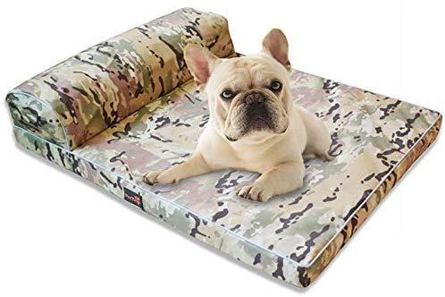 YLCJ Hoekbank voor honden met kussen, waterdicht, afneembaar overtrek, wasbaar, matras, antislip, voor middelgrote en grote honden, L, C.