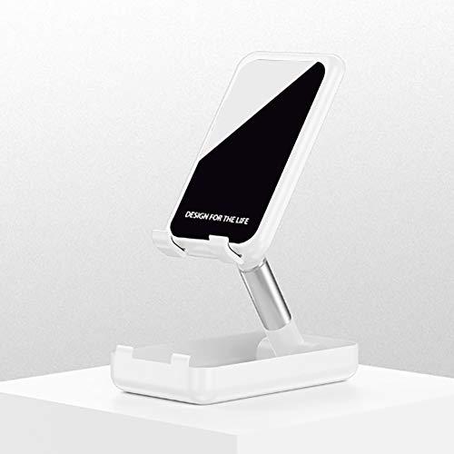 Andi Soporte ajustable para teléfono celular, soporte plegable para tableta para escritorio compatible con Samsung Galaxy iPad Mini iPhone X Xr Xs max todos los teléfonos inteligentes (blanco)