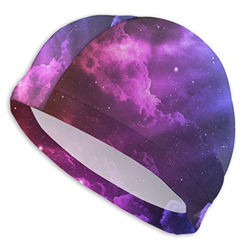Swim Cap Colour Stereoscopic Clouds Swimming Hat for Adult Unisex Bathing Cap Swimming Pool Big Head Hair for Men Women White