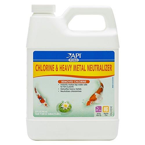 API Pondcare Chlorine and Heavy Metal Neutralizer 32-Ounce