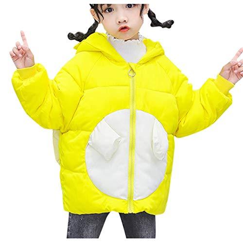 Binggong Mädchen Daunenmantel Wintermantel mit Flügel Süß Kinder Steppmantel SteppjackeWarm Coat Daunenjacke