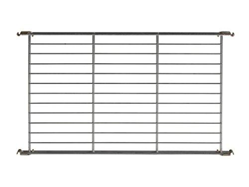 Balton Gitterboden BIII mit 4 Beschlägen für Regal Systeme, Metall, Chrom, 65 x 38 x 2 cm