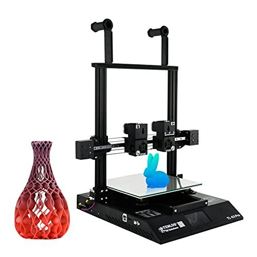 Explopur TL-D3 Pro Impresora 3D Extrusora Doble Independiente Doble Eje Z con Pantalla táctil Soporte Detección de Agotamiento del filamento Reanudar Función de impresión Gran