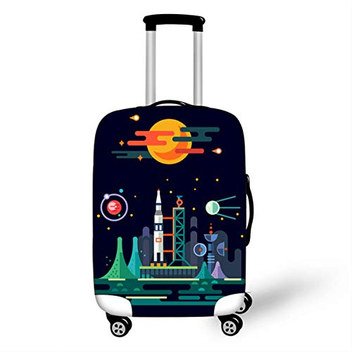 Trolley Case Protective Cover, DOTBUY 3D Print Premium Travel Suitcase Protector Elastic Anti-Scratch Dustproof Luggage Sleeve Cover Elasticized Washable (Area,M (22-24 inches))