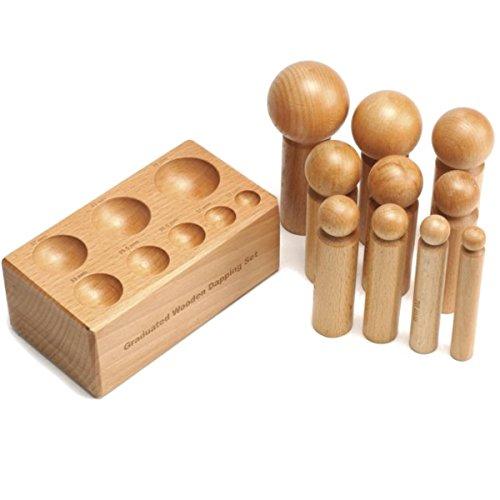 Juego bloque de embutir de base cuadrada de madera DomeXX-10 S1 Deluxe