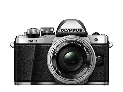 Olympus OM-D E-M10 Mark II Kit, Micro Four Thirds Systemkamera (16 Megapixel, 5-Achsen Bildstabilisator, elektronischer Sucher) + M.Zuiko 14-42mm EZ Zoomobjektiv, silber