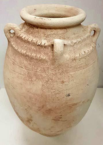 Grande anfora / fioriera / vaso da giardino in terracotta naturale rustica marocchina del deserto di Zagora - Argilla leggera naturale - H48 Di35 cm - Molto pesante + 15 kg