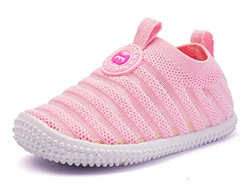 BMCiTYBM Baby Shoes Boy Girl Infant Sneakers Non-Slip First Walkers 6 9 12 18 24 Months Pink Size 12-18 Months Infant