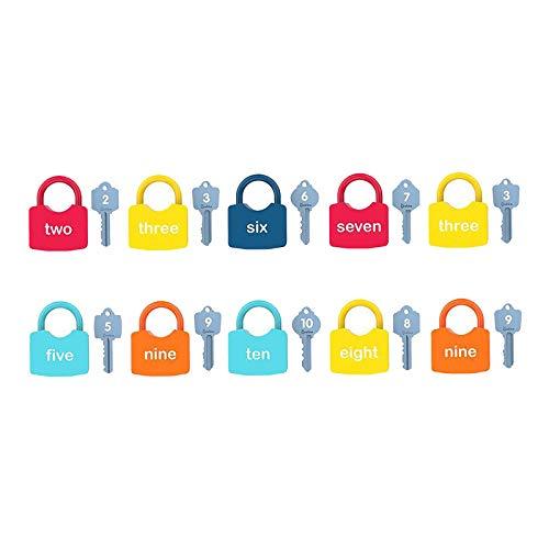 sharprepublic Conjunto de Llaves y cerraduras Coloridas para bebés pequeños, Maleta multifunción, candado para niños, Montessori, Juego Educativo de Juguete
