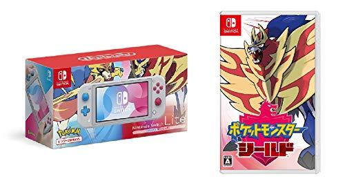Nintendo Switch Lite ザシアン・ザマゼンタ + ポケットモンスター シールド -Switch&【予約者限定特典】「...