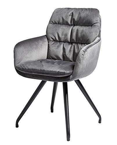 Movian Basento - Silla giratoria, 57,5 x 62 x 88cm, gris plateado