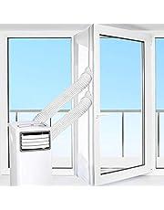 HOOMEE Raamafdichting voor Mobiele Airconditioners, Airconditioners, Wasdrogers, Afzuigluchtdrogers - Heteluchtstop voor Bevestiging aan Ramen, Dakramen, Openslaande Ramen (Airconditioning Raamafdichting 560cm)