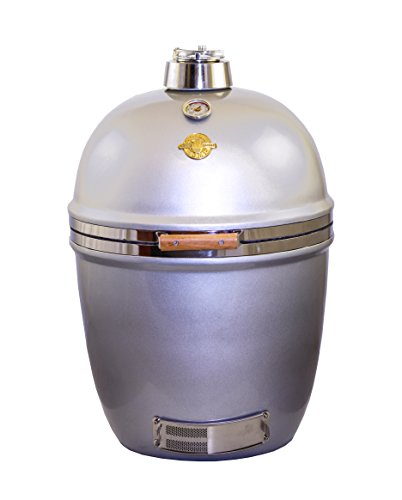 Silver Grill Dome Kamado Large With Mobile Stand