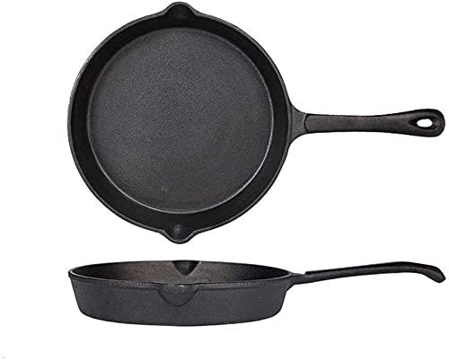 YAYY 16 cm, 20 cm, 22 cm, 25 cm, 26 cm. Frying Pan de hierro endurecido antiarañazos, compatible con todos los fuegos de inducción. Actualización de 26 cm.