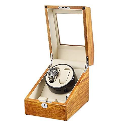 Sunmong Caja enrolladora automática para 2 + 3 Relojes, Motores silenciosos y 5 Modos de rotación con Adaptador de CA o batería, Reloj Giratorio (Color: A)