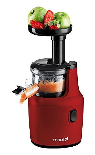 Concept Electrodomésticos LO7112 exprimidor de frutas y verduras con 55 revoluciones/min, 120 W, 1 Liter, Plástico, Rojo