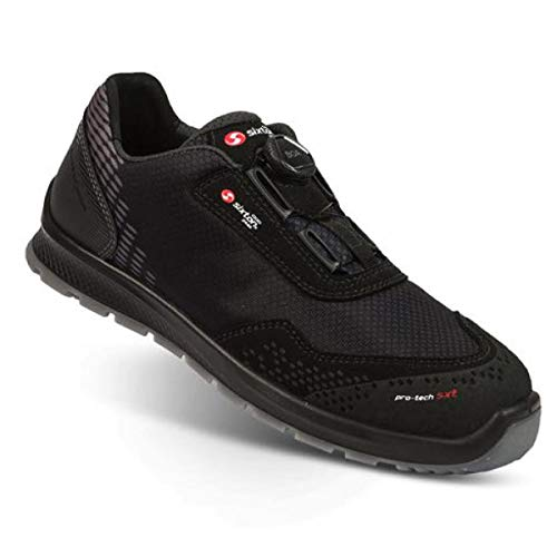 SIXTON Newport BOA S3 Sicherheitsschuhe, Farbe:schwarz, Schuhgröße:45 (UK 10.5)