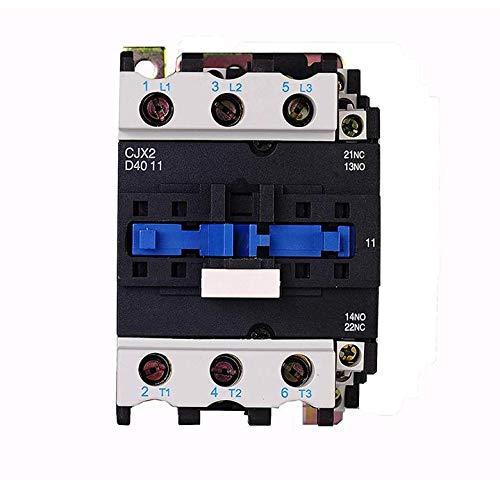 TRIPERSON CJX2-4011-DC DC Distribution Electrical Contactor 12V 50Hz/60Hz Coil 40A 3-Phase 3-Pole NO NC