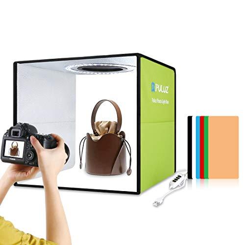 Photo Studio Light Box 11.8in/30cm PULUZ Portable Photo Studio Shooting Tent 10 Dimmable Modes...
