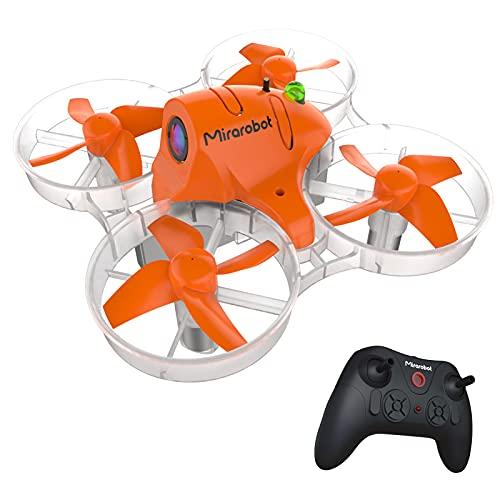 conpoir Mirarobot S85 FPV Racing Drone con cámara 5.8G 48CH 25MW VTX 600TVL Cámara Mini FPV Quadcopter RTF para Principiantes Interruptor de Tres/Seis Ejes Altitude Hold One Key Flip