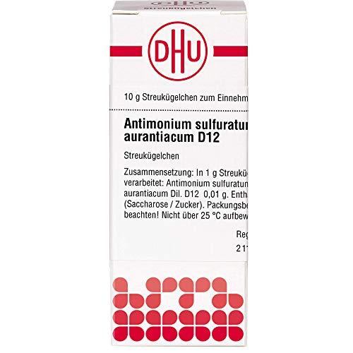 DHU Antimonium sulfuratum aurantiacum D12 Streukügelchen, 10 g Globuli