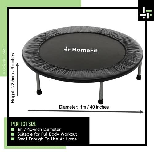 HomeFit - Fitness Rebounder Mini Trampoline - Folding Frame Design - 1 meter / 40