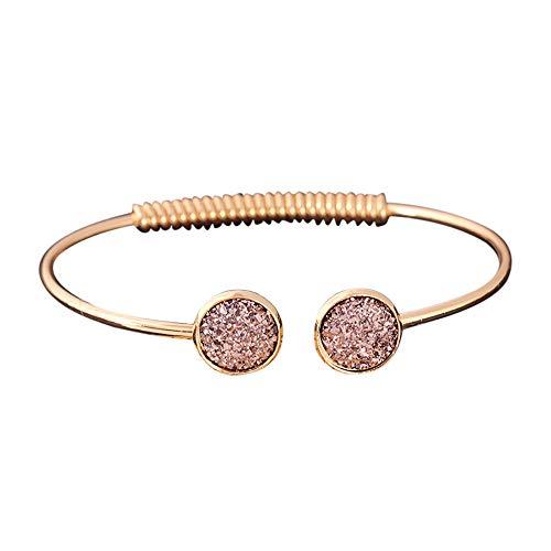 UINGKID Damen-Armband Charm Kreative Stilvolle Mode- -Gold-Silber-Punk-Manschette- -Armreif-Kette- -Schmuck-Set