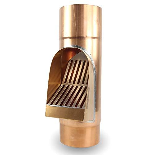 Fallrohrfilter von CurtMaxx | Effektiver Filter für Fallrohre - filtert Laub, Äste und Schmutz aus dem Fallrohr | Ø 100 mm, Kupfer