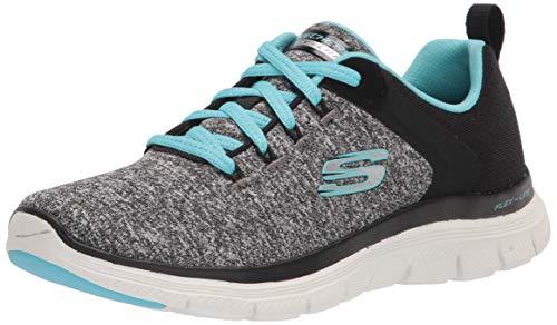 Skechers Women's Flex Appeal 4.0 Sneaker, BKLB=Black Light Blue, 11