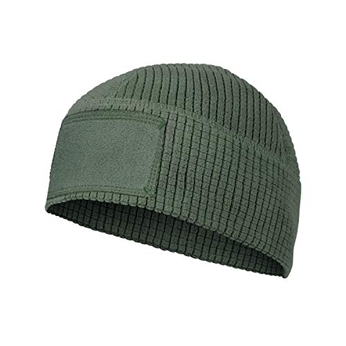 Helikon-Tex Range Beanie Cap - Grid Fleece Olive GRÜN L/Regular