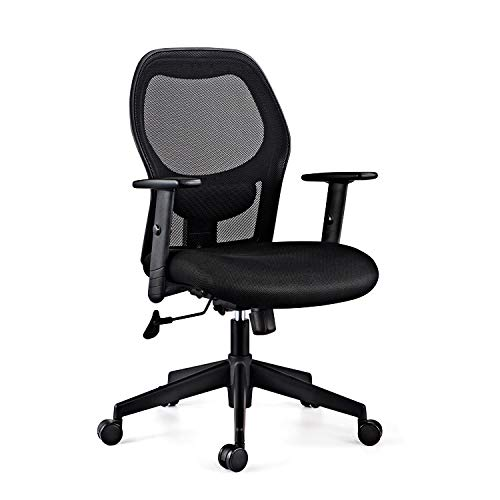 Duratek™ Corporate M1 Chair with Lumbar Back Support, Ergonomic Design and Swivel Mechanism for Home or Office