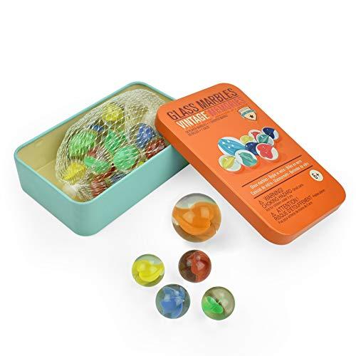 Legami - Biglie in Vetro, Glass Marbles, Contiene 20 Biglie e 1 Biglione, Vintage Memories, da Utilizzare su ogni Superfice, Diametro Biglie 1,7 cm, Diametro Biglione 2,5 cm