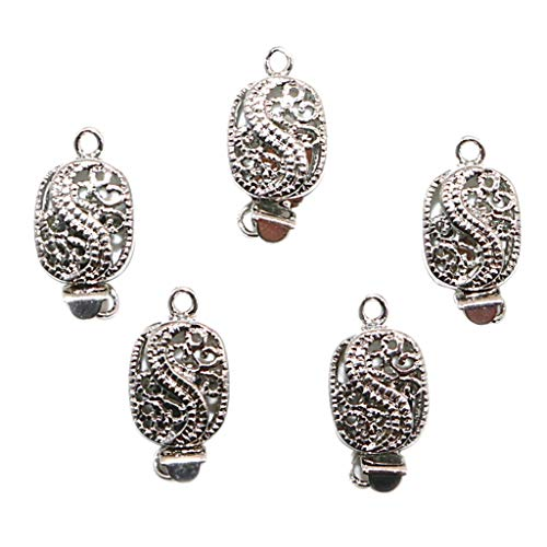 Baoblaze 5pcs Fermoirs Magnétiques Dragon Sculpture Attaches Fermoirs pour Bijoux Cuir Cordon Colliers Bracelets