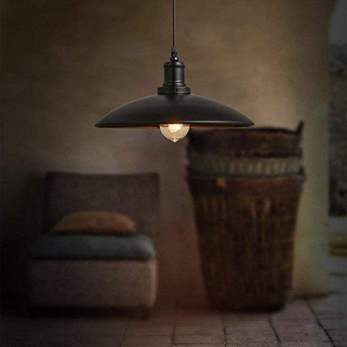 DSJ kroonluchter Nordic Warehouse kroonluchter industrieel retro eenvoudig licht loft ijzer restaurant single head deksel zwart kroonluchter