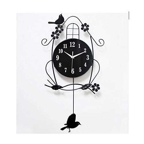Reloj de pared grande Moderna sala de estar Reloj de pared Mute Personalidad Hogar Bird Reloj Atmósfera Sala de estar Reloj de pared Dormitorio Elegante reloj de pared Relojes de pared silenciosos