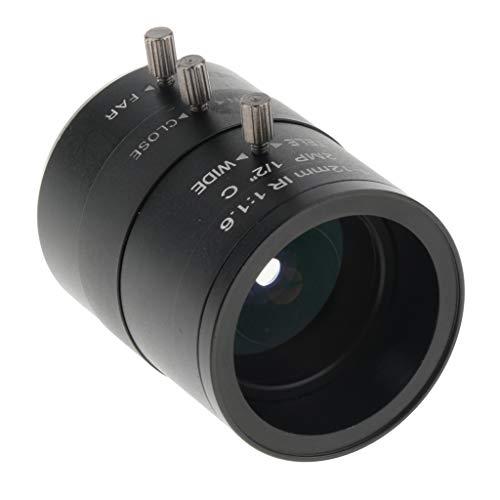 4-12mm 可変焦点 アイリスレンズ 1 2インチ F1.6 Cマウント CCTVレンズ 防犯・監視カメラ用