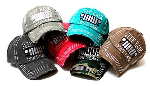 CAPS 'N VINTAGE Women's Glitter Monogram Adjustable Baseball Hat