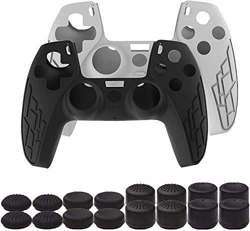 Juego de fundas para controladores para PS5 Playstation 5 de silicona antideslizante...
