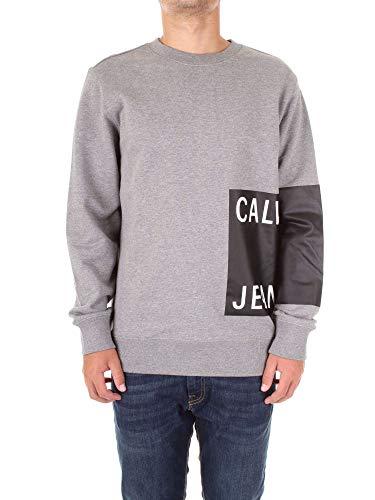 Calvin Klein Jeans Herren Sweatshirt Calvin Jeans Logo REG Crew Neck weißM