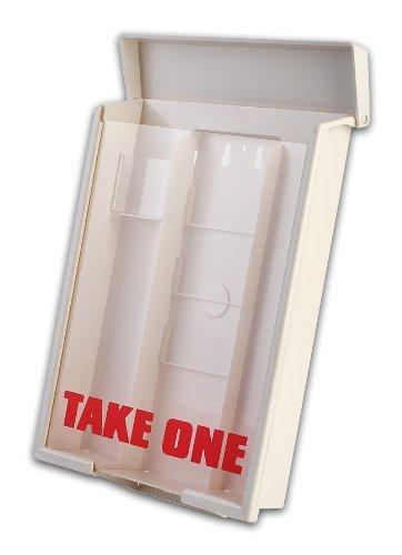 12 White Snap Shut Brochure Boxes Brochure Holder Flyer Box Wholesale Bulk 12 White Snap Shut Outdoor Bulk Saver